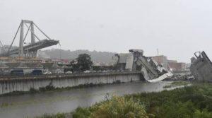 انهيار جسر جنوة